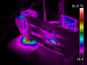 Thermographie d'une imprimante 3D Printrbot